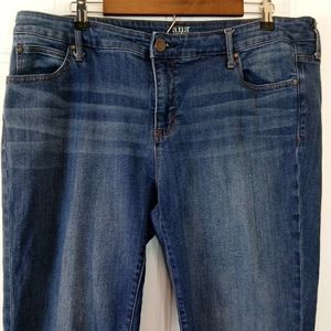 a.n.a five pocket skinny ankle jeans